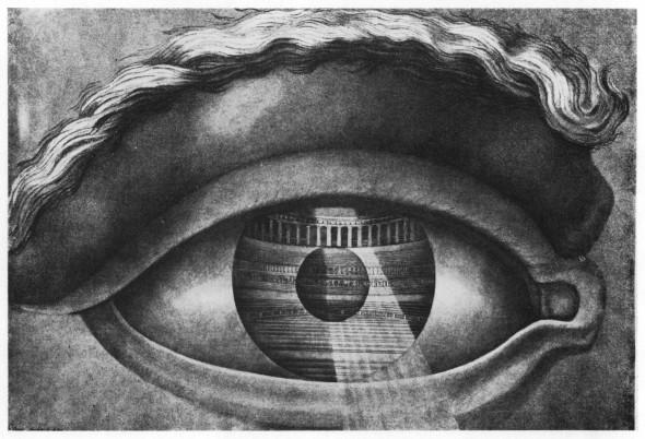 Ledoux: Das Theater von Besançon in einer Pupille